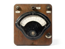 Electricity meter. Old and obsolete electricity meter Royalty Free Stock Photo