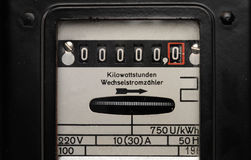 Electricity meter Royalty Free Stock Image
