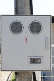 Electricity meter box Royalty Free Stock Photos