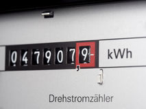 Electricity meter Stock Photos