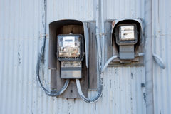 The electricity meter Stock Images