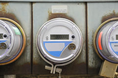 Electricity meter for a home Stock Image