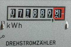 Electricity meter measures the current Stock Image