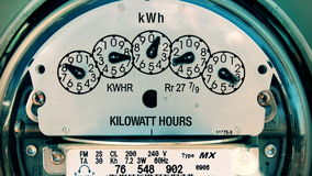 Electricity Meter (Time-lapse 4K) Electrical stock video