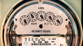 Electricity Meter (Time-lapse 4K) Electrical. 4K shot of electricity meter spinning really fast stock video