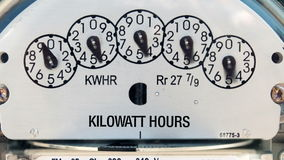 Electricity Meter (Time-lapse) stock video