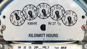 Electricity Meter (Time-lapse) stock footage