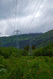 Electricity in mountains Royalty Free Stock Image