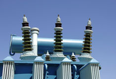 Electricity oil transformer Stock Photography