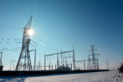 Electricity Plant Stock Image