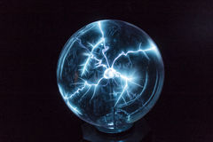 Electricity in a plasma ball Royalty Free Stock Photography