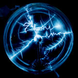 Electricity in a plasma ball Royalty Free Stock Image