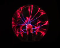 Electricity plasma ball Royalty Free Stock Image