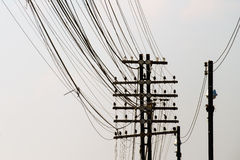Electricity pole Royalty Free Stock Photography