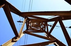 Electricity pole Stock Image
