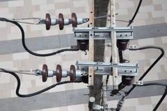 Electricity pole Royalty Free Stock Photos