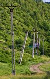 Electricity poles Stock Photo