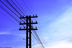 Electricity poles Royalty Free Stock Photos