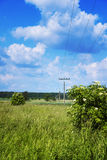Electricity poles Royalty Free Stock Photography