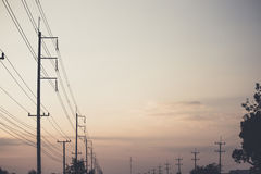 Electricity poles Stock Images