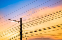 Electricity poles Stock Image
