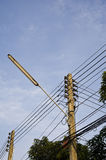 Electricity post Stock Photo