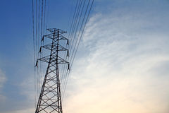 Electricity post Royalty Free Stock Images
