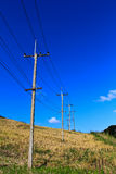 Electricity post. S beside the road Royalty Free Stock Images
