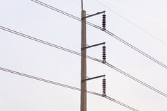 The Electricity  Post. Stock Images