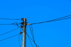 Electricity post. Electricty post in thailand Royalty Free Stock Photo