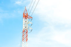 Electricity post Royalty Free Stock Photo