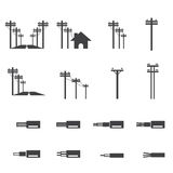 Electricity post icon Stock Images