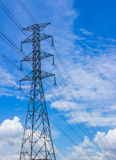 Electricity post. Large power pole And the beautiful sky Royalty Free Stock Image