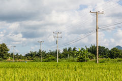Electricity post Stock Photography