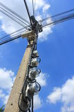 Electricity post. Royalty Free Stock Photos