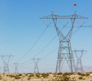 Electricity power constructions Stock Images