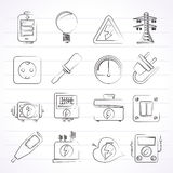 Electricity,power and energy icons. Vector icon set Stock Photo