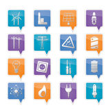 Electricity,  power and energy icons Stock Photography