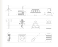 Electricity and power icons Royalty Free Stock Photo