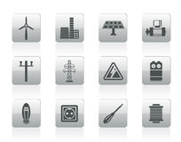 Electricity and power icons Royalty Free Stock Photography