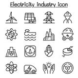 Electricity & Power industry icon in thin line style Royalty Free Stock Image