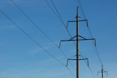 Electricity  power line Royalty Free Stock Photography