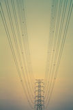 Electricity power line Royalty Free Stock Images