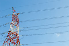 Electricity power line pylon Royalty Free Stock Photos