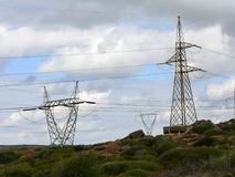 Electricity. Power line Royalty Free Stock Images