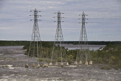 Electricity Power Lines Stock Photography