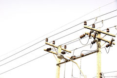 Electricity power lines Stock Image