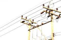 Electricity power lines Stock Images