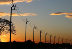 Electricity Power lines Stock Photos