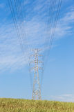 Electricity Power Lines Tower Countryside Royalty Free Stock Photos